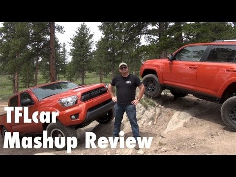 2015 Toyota 4Runner TRD Pro vs Tacoma TRD Pro Off-Road Mashup Review