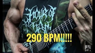 SUPER FAST DOWN PICKING SPEED | 290 BPM!!!!!!