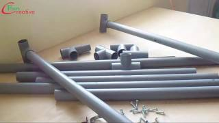 How to make a table at home with plastic pipes | DIY table