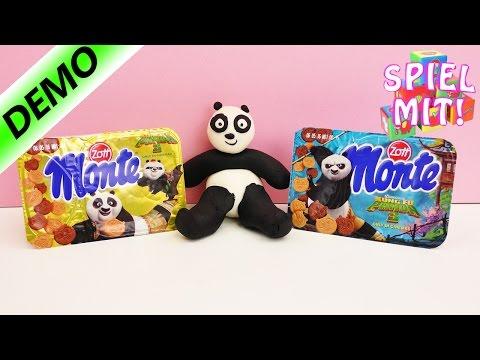 Kung Fu Panda 3 Monte Pudding mit Pandan aus Keksen + Anleitung Panda aus Playdoh