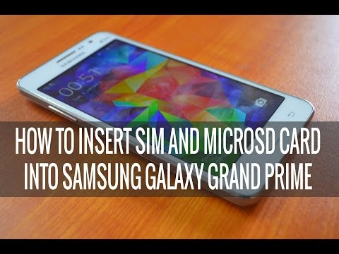 How to Insert SIM Card and microSD card into Samsung Galaxy Grand Prime