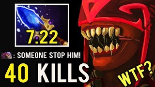 CANCER BS IS BACK! 7.22 Scepter Lethal Rupture 40 Kills 1k Speed Craziest Gameplay by nemphy Dota 2