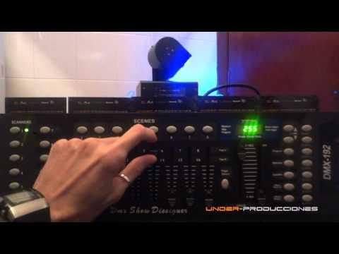 TUTORIAL Como programar una consola controlador DMX ? Explicacion UNDER-PRODUCCIONES