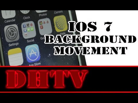 iPhone 5s. 5c iOS 7 Parallax Background - How To Disable Moving Background and Save Battery Life