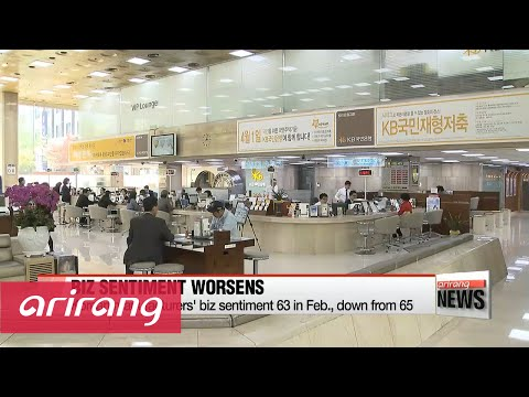 Korea's business sentiment worsens to lowest level in almost 7 years