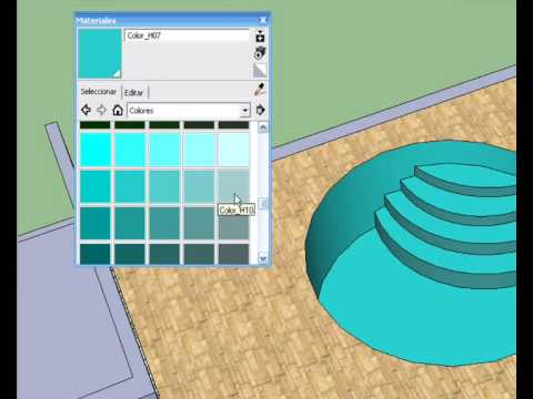 I e s andr s bello swimming pool google sketchup pro7 for Pool design sketchup