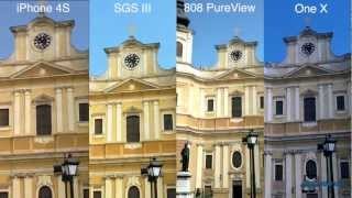 Apple iPhone 4S vs. Samsung Galaxy S III vs. Nokia 808 PureView vs. HTC One X_ Video Shootout