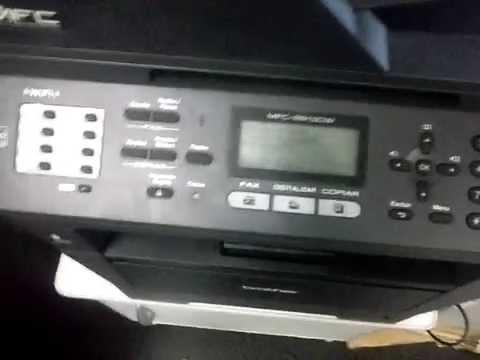 Reset do toner Impressora MFC 8912dw