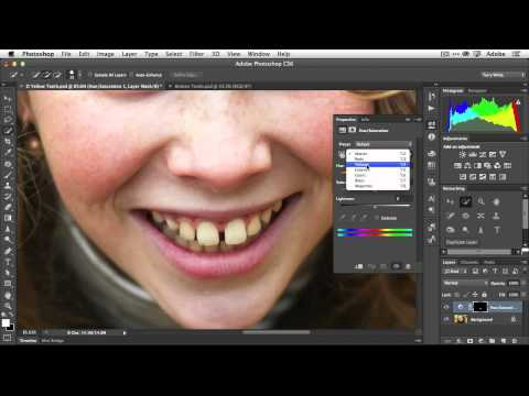 How To Fix Teeth In Adobe Photoshop CS6