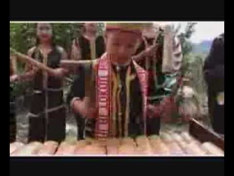 Aboriginal Music - Northern Borneo, Bamboo Instrument And Traditional Dance video