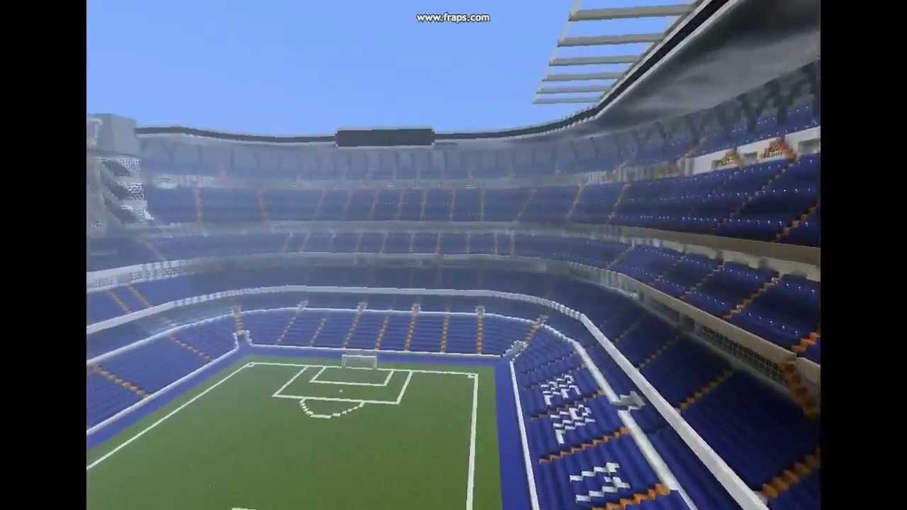 - - Santiago YouTube Stadium Minecraft Bernábeu