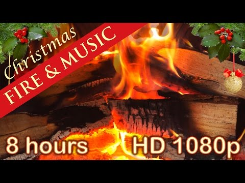✰ 8 HOURS ✰ CHRISTMAS MUSIC with FIREPLACE ✰ Christmas Songs Playlist ✰ Instrumental Medley Carols