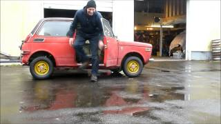 Red Honda N 600 roll out