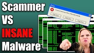 Scammer VS Real Malware - Scammer Reacts To REAL Malware!