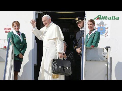Pope Francis arrives in Cuba