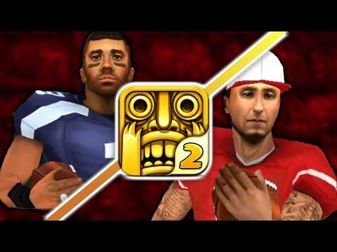 Temple Run 2 - RUSSELL WILSON & COLIN KAEPERNICK - New Football Characters (iPhone Gameplay Video)