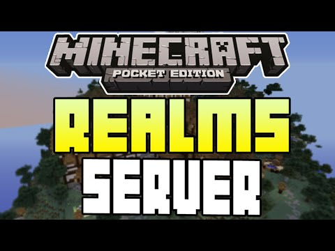 Minecraft Pocket Edition REALMS SERVER COMING + SKINS + MORE INFO