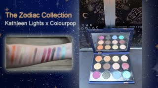Colourpop x Kathleen Lights-The Zodiac Collection: In depth swatches!