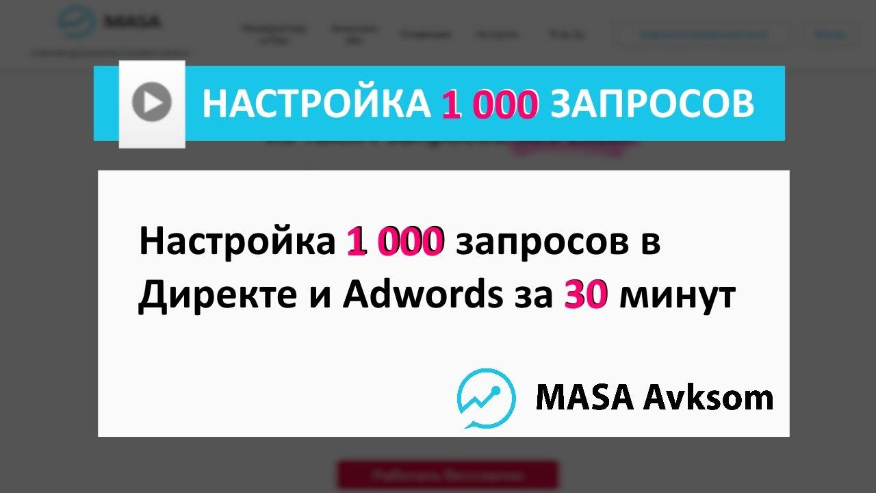 Настройка яндекс директа видео как написать рекламацию на товар образец