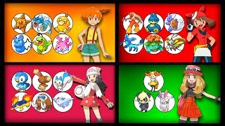 Every Pokemon owned by Every Pokegirl in Pokemon (Misty to Lillie)