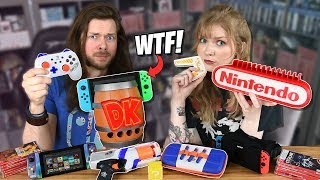 My Girlfriend & I Buy WEIRD Nintendo Switch Accessories, AGAIN!