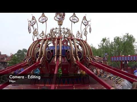 Dumbo the flying Elephant onride at Disneyland Paris