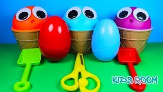 3 Colors Play Doh Ice Cream Cups PJ Masks Chupa Chups LOL Surprise Toys Kinder Surprise Eggs