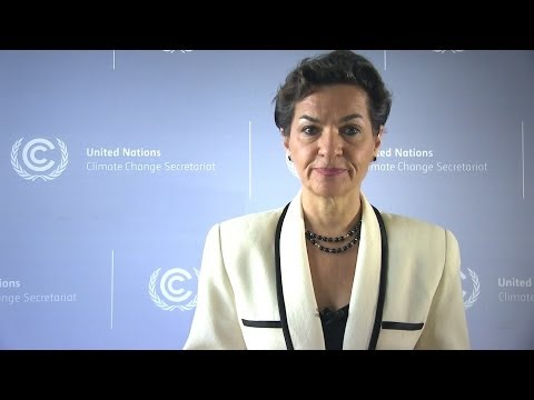 Christiana Figueres addresses the opening plenary of IPCC AR5 WGII meeting