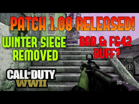 *NEW* 1.08 UPDATE AND PATCH NOTES! WINTER SIEGE REMOVED | NEW UPDATE FOR CALL OF DUTY WWII