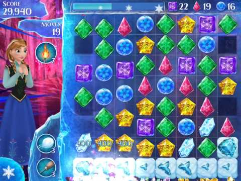 Frozen Free Fall Level 162 Live Action Play Walkthrough