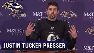 Justin Tucker Full Press Conference Reaction to Game Winner | Baltimore Ravens