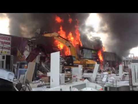Спишут на бардак или  ИГИЛ?:  Страшный Пожар в Москве на рынке «Мельница» у МКАД