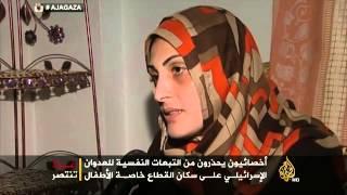 الطفلة بيسان ضاهر بعد مقتل عائلتها بالشجاعية