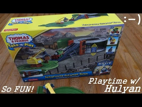 Another Scrapyard Cleanup Team Take N Play Set Playtime - Thomas & Friends