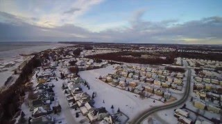 Flying a drone over Anchorage, Alaska