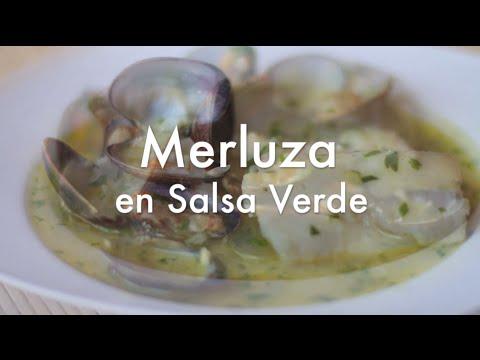 Merluza en salsa verde con almejas - Recetas para navidad
