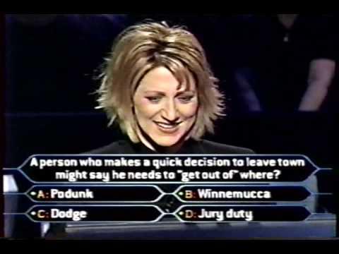 1/2 Edie Falco on Celeb Millionaire