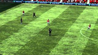Fifa 12 Ashley Young lucky goal