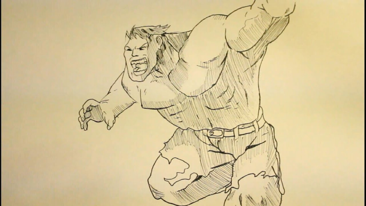 easy hulk drawings - photo #37