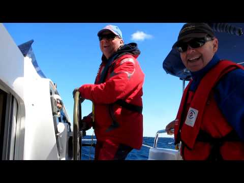 30 Knot Winds & 3 Meter seas in Fountaine Pajot Lavezzi Catamaran
