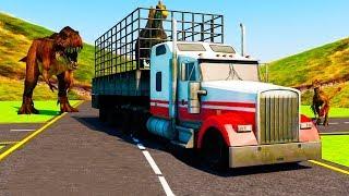 Jurassic Dino Transport Truck (Dino Monster Transport Truck Driver Game) Android Gameplay FHD