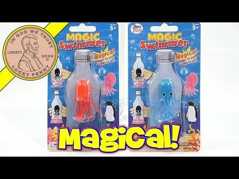 Magic Swimmers Warm Fuzzy Swimming Creatures Fun Novelty Toy!