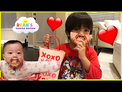 Kids Candy Surprise Valentine Day Haul and Princess T Family Fun Game Ryan's Family Review