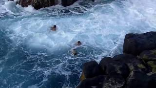 Scary video of people getting trapped in the POOL OF DEATH
