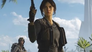 JYN ERSO GAMEPLAY - Star Wars Battlefront Rogue One Scarif (Exclusive Early Gameplay)