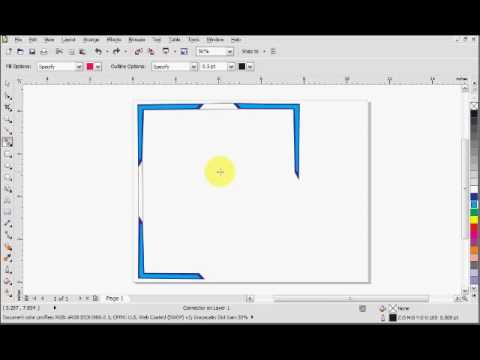 Corel Draw X5 Connecting Lines Tutorial