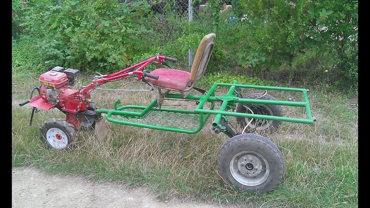 Как сделать из коляске трактор