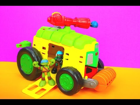 Teenage Mutant Ninja Turtles Half Shell Heroes Shellraiser With Driver Leo And Caillou video