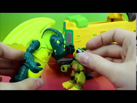 Teenage Mutant Ninja Turtles Half Shell Heroes Shellraiser with Driver Leo and Caillou