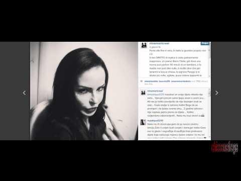 """Il dito medio di Nina Moric a Paola Perego """"Voleva tapparmi la bocca"""""""